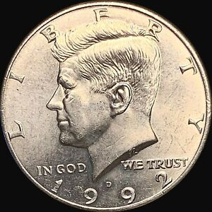 1 1992 D KENNEDY HALF DOLLAR UNCIRCULATED CONDITION   FAST SHIPPING