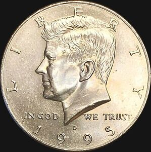 1 1995 D KENNEDY HALF DOLLAR UNCIRCULATED CONDITION   FAST SHIPPING