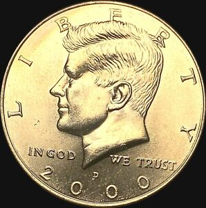 1 2000 D KENNEDY HALF DOLLAR UNCIRCULATED CONDITION   FAST SHIPPING