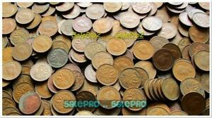 100X CANADA 1942 1943 CANADIAN GEORGE VI 2X  COPPER PENNY COIN ROLL LOT