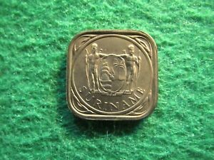1962 SURINAME / DUTCH GUIANA 5 CENTS   NICE BRIGHT UNCIRCULATED