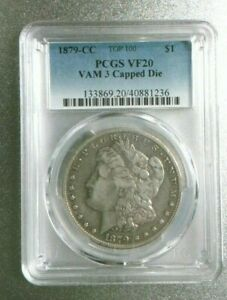 1879 CC MORGAN ICG VF 20 CAPPED DIE VAM 3 TOP 100