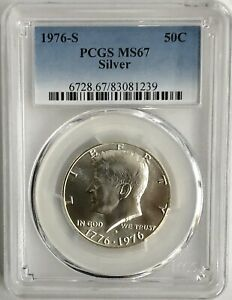 Click now to see the BUY IT NOW Price!  5  FIVE 1976 S SILVER KENNEDY HALF DOLLARS 50C PCGS MS67  LOT OF 5 PCGS COINS