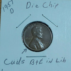 1957 D WHEAT LINCOLN PENNY LOT WITH ERROR'S