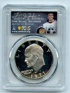 Click now to see the BUY IT NOW Price! 1971 S $1 SILVER IKE EISENHOWER DOLLAR PROOF PCGS PR70DCAM FRED HAISE