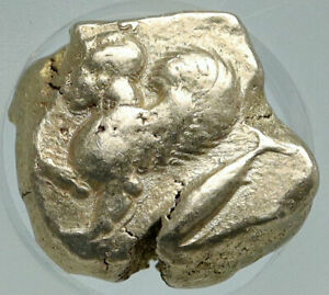 Click now to see the BUY IT NOW Price! KYZIKOS CYZICUS MYSIA ARCHAIC GOLD SILVER ALLOY GREEK COIN SPHINX NGC I86558