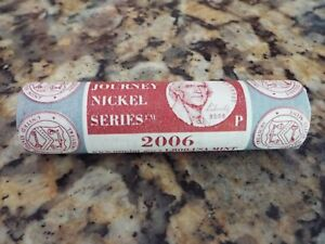 1   2006 U.S. MINT WESTWARD JOURNEY NICKEL SERIES $2 ROLL  JEFFERSON