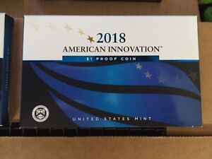 2018 S AMERICAN INNOVATION $1 PROOF BOX/ OGP/COA      TEN  $1 COINS