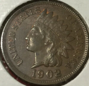 1902   AU PHILADELPHIA MINT  INDIAN HEAD CENT