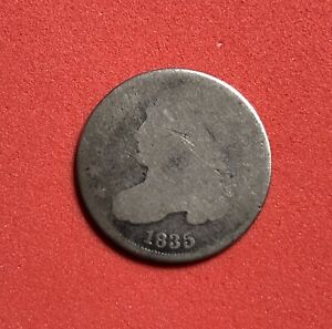 1835 P S CAPPED BUST SILVER DIME VARIETY 2  AVERAGE GOOD COIN
