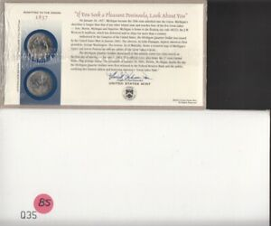 2004 MICHIGAN U.S. MINT STATE QUARTER FIRST DAY COIN COVER   SEALED