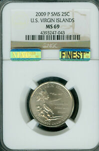 Click now to see the BUY IT NOW Price! 2009 P VIRGIN ISLANDS QUARTER  NGC MS 69 SMS PQ MAC FINEST MAC SPOTLESS .