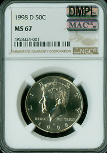 Click now to see the BUY IT NOW Price! 1998 D KENNEDY HALF DOLLAR NGC MAC MS 67 DMPL PQ ONLY 1 FINER  SPOTLESS  .