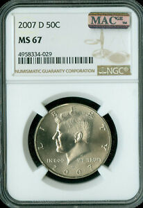 Click now to see the BUY IT NOW Price! 2007 D KENNEDY HALF DOLLAR NGC MS67 BUSINESS STRIKE 2ND FINEST MAC SPOTLESS .