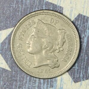 1865 THREE CENT NICKEL COLLECTOR COIN