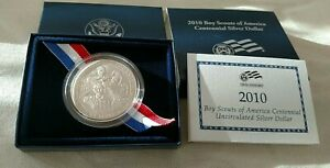 2010 BOY SCOUTS CENTENNIAL SILVER DOLLAR UNCIRCULATED W/ US MINT PACKAGING