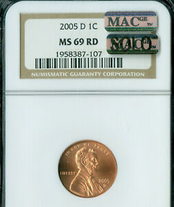 Click now to see the BUY IT NOW Price! 2005 D LINCOLN CENT NGC MS 69 RED BUSINESS STRIKE MAC SOLO FINEST MAC SPOTLESS .
