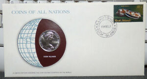 COINS OF ALL NATIONS COOK ISLANDS 20 CENTS 1983 COIN STAMP & COVER FAIRY TERN