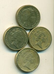 4 DIFFERENT 2 DOLLAR COINS FROM AUSTRALIA  1988 1994 1997 & 2005