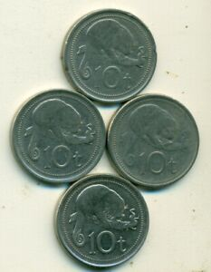 4   10 TOEA COINS W/ CUSCUS FROM PAPAU NEW GUINEA  1998 2005 2006 & 2009