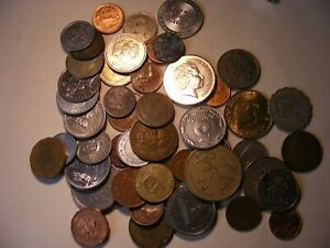 50 PLUS LOT OF WORLD FOREIGN COINS 2