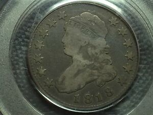 1818  PCGS  F 12   CAPPED BUST QUARTER   NICE COIN