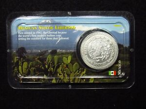 1943 MEXICO SILVER LIBERTAD LITTLETON COIN COMPANY CRACKED PACKAGING