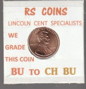 2008  LINCOLN  CENT     UNCIRCULATED     NICE  HAND PICKED CENT  FROM RS COINS