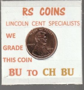 2004D  LINCOLN  CENT     UNCIRCULATED     NICE  HAND PICKED CENT  FROM RS COINS