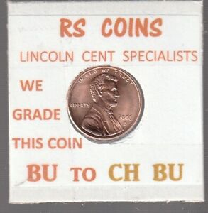 2006D  LINCOLN  CENT     UNCIRCULATED     NICE  HAND PICKED CENT  FROM RS COINS