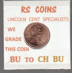 2007D  LINCOLN  CENT     UNCIRCULATED     NICE  HAND PICKED CENT  FROM RS COINS