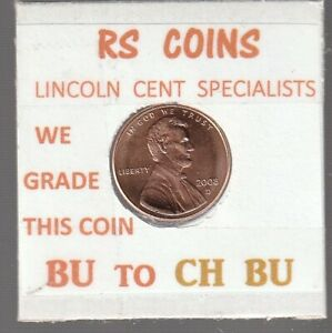 2008D  LINCOLN  CENT     UNCIRCULATED     NICE  HAND PICKED CENT  FROM RS COINS