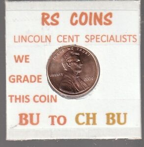 2004   2005  LINCOLN CENTS   UNCIRCULATED   NICE HAND PICKED CENTS FROM RS COINS