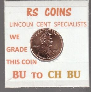 2005   2006  LINCOLN CENTS   UNCIRCULATED   NICE HAND PICKED CENTS FROM RS COINS