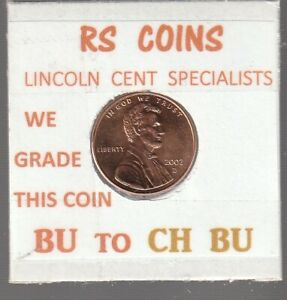 2002D   2003D  LINCOLN CENTS  UNCIRCULATED  NICE HAND PICKED CENTS FROM RS COINS