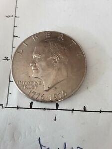 1776 1976 USA $1.00 D COIN  ERROR ???D LOOKS DOUBLE STAMPED AS PICTURED