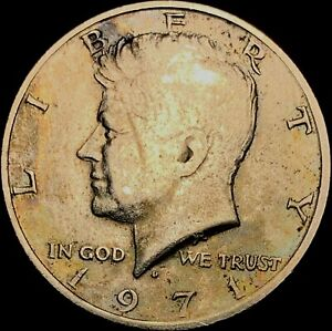 1971 D KENNEDY HALF DOLLAR BEAUTIFUL TONED COIN FAST SHIPPING