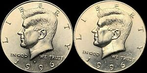 1996 P&D KENNEDY HALF DOLLARS BEAUTIFUL COINS FAST SHIPPING