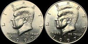 1997 P&D KENNEDY HALF DOLLARS BEAUTIFUL COINS FAST SHIPPING