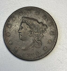 1820/19  CORONET LARGE CENT FINE VF