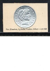 1929 USA CIGARETTE CARD 1907 HALF DOLLAR SILVER COIN NOT AN ACTUAL COIN