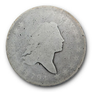 1794 FLOWING HAIR HALF DOLLAR AG ABOUT GOOD  KEY DATE LOW MINTAGE