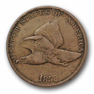 1858/7 OVERDATE FLYING EAGLE CENT FINE TO  EXTRA FINE 3391
