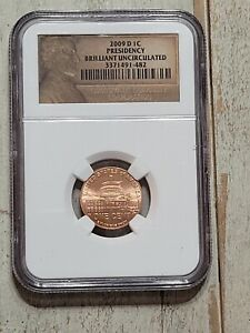 2009 D 1C LINCOLN PENNY ONE CENT NGC BU PRESIDENCY   482