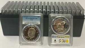 Click now to see the BUY IT NOW Price! 20   1974 S  CLAD EISENHOWER IKE DOLLAR PCGS PR69DCAM   20 COIN SET
