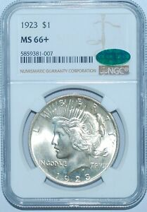1923 P NGC MS66  CAC PEACE SILVER DOLLAR