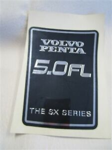 VOLVO PENTA 3851027 5.0 FL THE SX SERIES STICKER BLACK / SILVER MARINE BOAT  - EUR 12.57