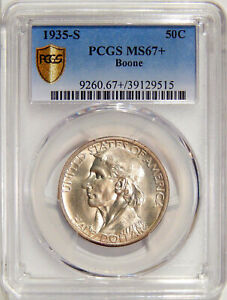 Click now to see the BUY IT NOW Price! 1935 S BOONE PCGS MS 67    LOW POP SILVER COMMEMORATIVE HALF DOLLAR