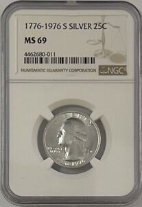 Click now to see the BUY IT NOW Price! 1776 1976 S WASHINGTON SILVER QUARTER NGC MS69    COIN   LOW POP