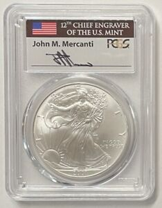 Click now to see the BUY IT NOW Price! 2001 $1 SILVER EAGLE PCGS MS70 MERCANTI SIGNATURE POP 17